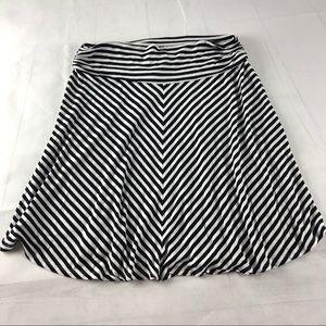 Merona Striped Flare Skirt L
